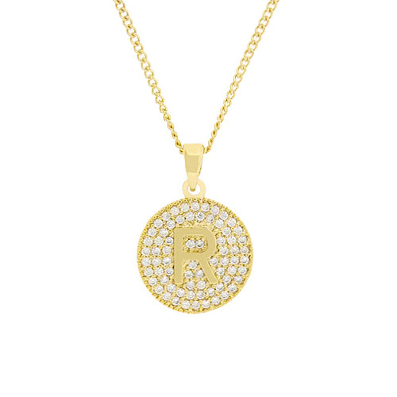 Cubic zirconia initial necklace goldclear usjewelryhouse cubic zirconia initial necklace goldclear aloadofball Choice Image