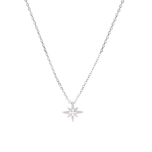 Cubic Zirconia Celestial Pendant Simple Chain Necklace