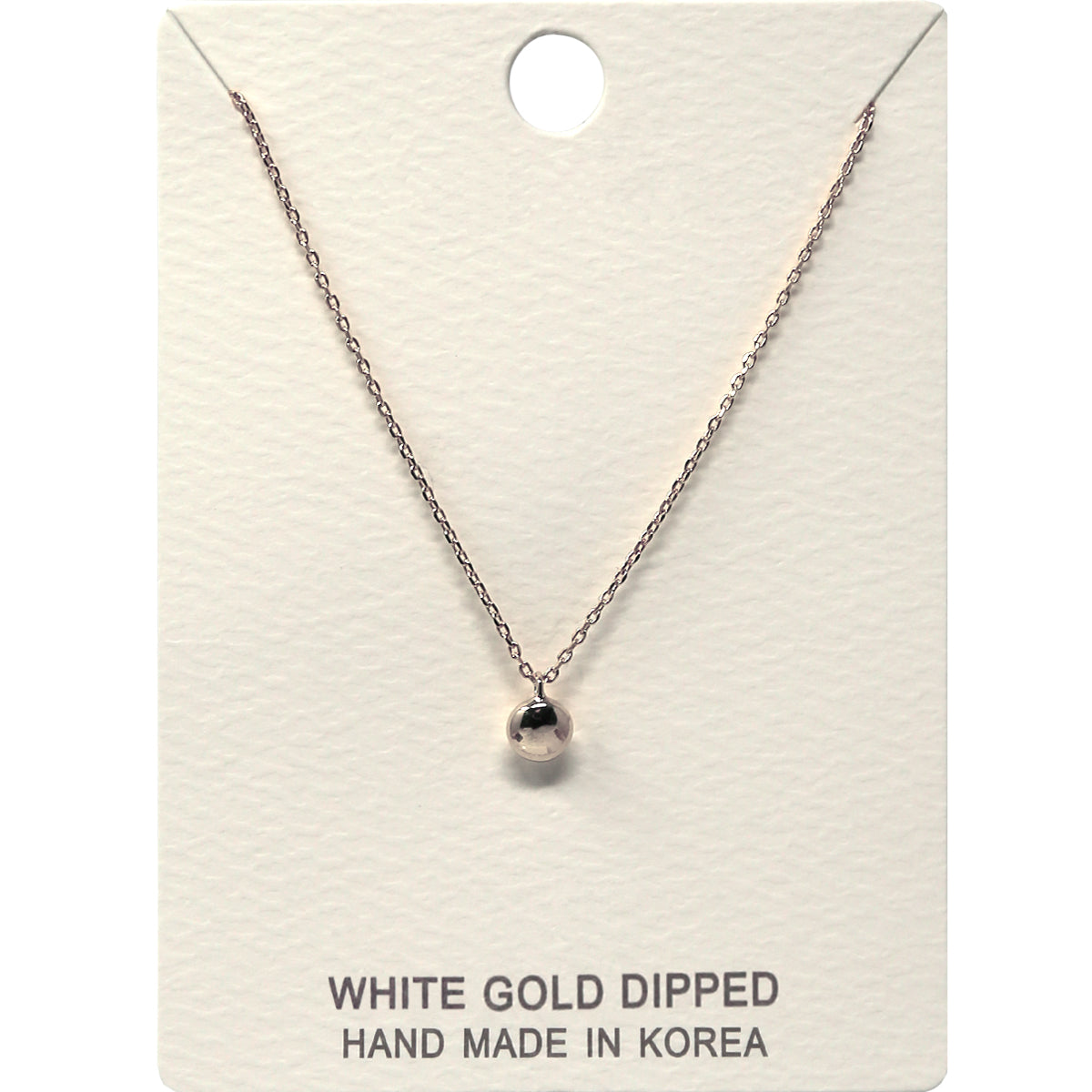 Puffed Disc Pendant Short Necklace (Small)