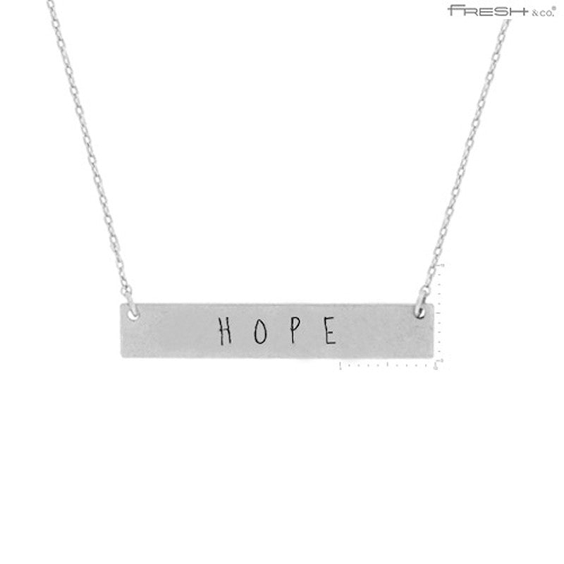 HOPE Message Pendant Necklace