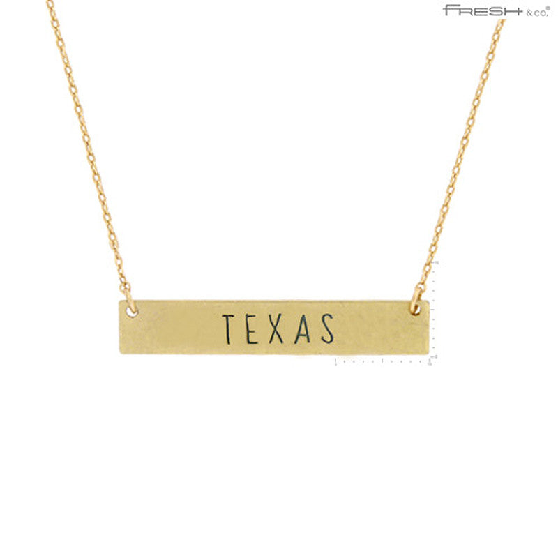 TEXAS State Map Pendant Necklace