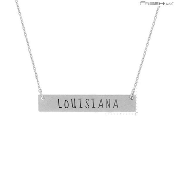 LOUISIANA State Map Pendant Necklace