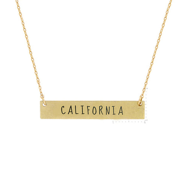 CALIFORNIA State Map Pendant Necklace