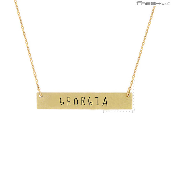 GEORGIA State Map Pendant Necklace
