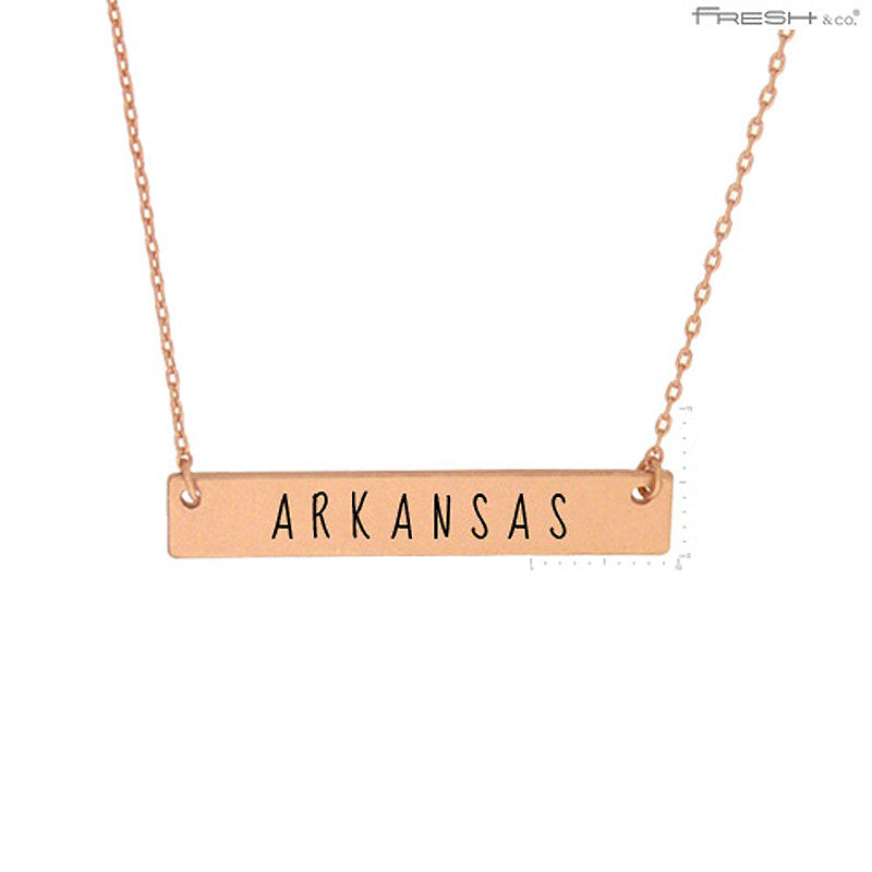 ARKANSAS State Map Pendant Necklace