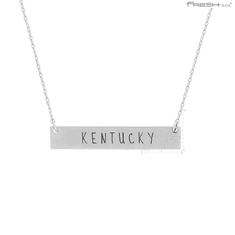KENTUCKY State Map Pendant Necklace