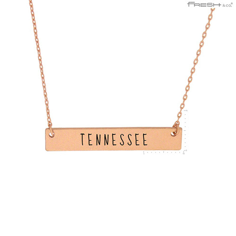 TENNESSE State Map Pendant Necklace