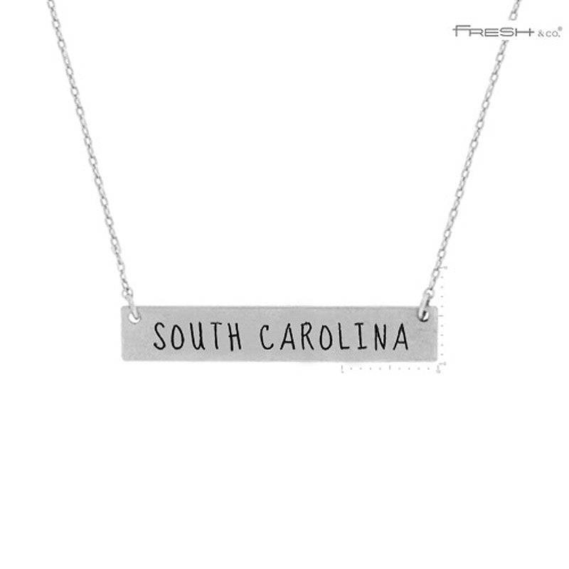 SOUTH CAROLINA State Map Pendant Necklace
