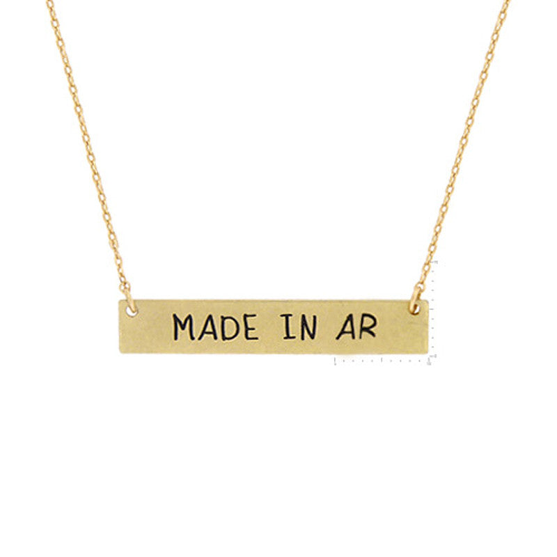 Made in AR Pendant Necklace