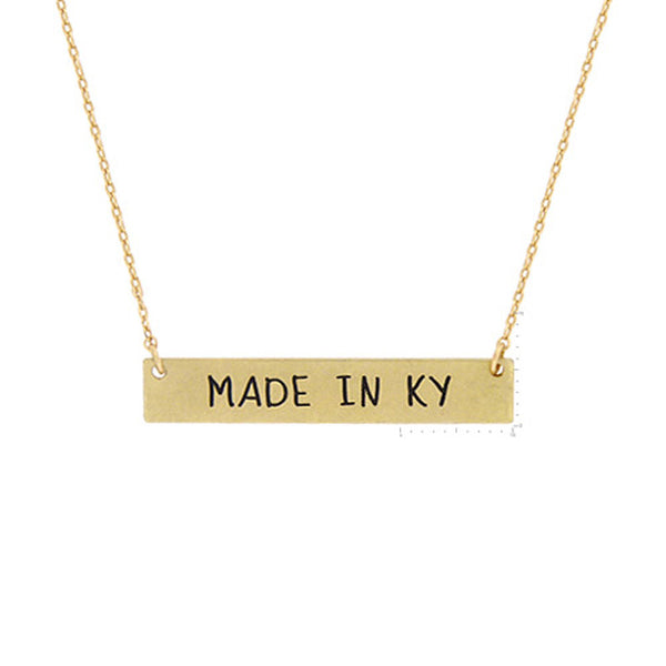 Made in KY Pendant Necklace