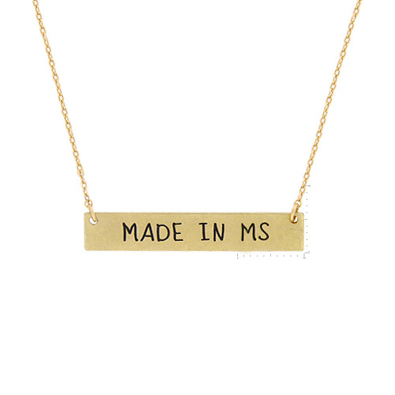 Made in MS Pendant Necklace