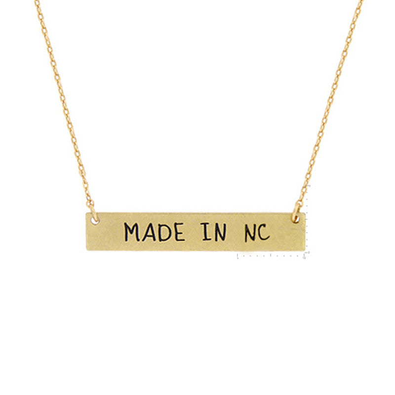 Made in NC Pendant Necklace