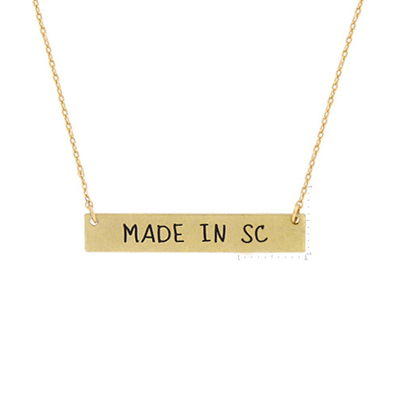 Made in SC Pendant Necklace