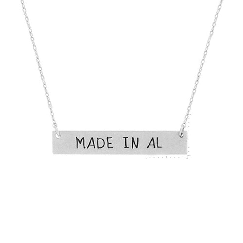 Made in AL Pendant Necklace