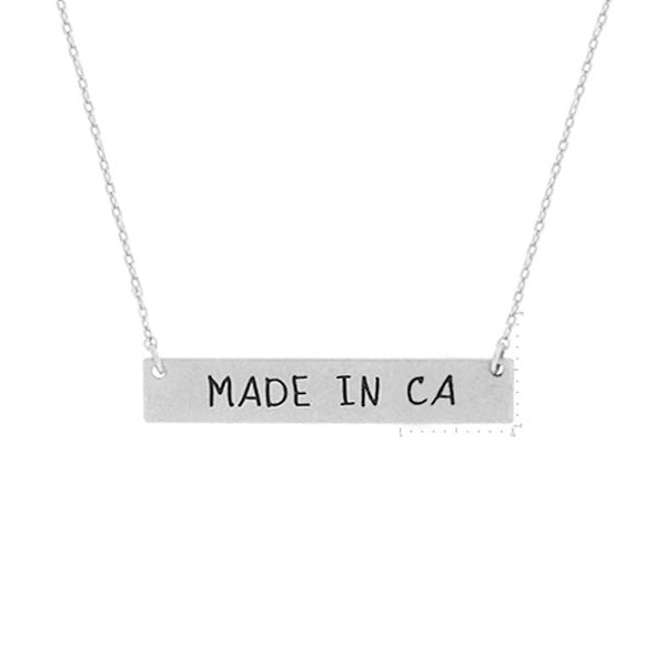 Made in CA Pendant Necklace