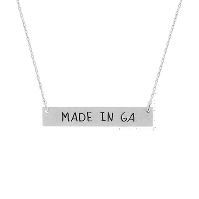 Made in GA Pendant Necklace