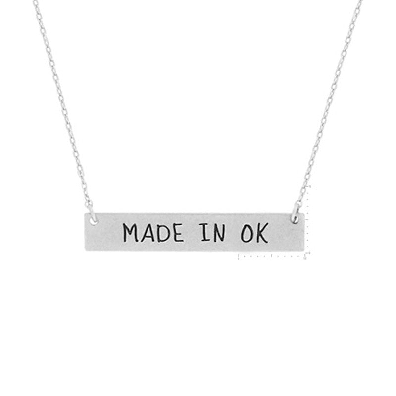 Made in OK Pendant Necklace