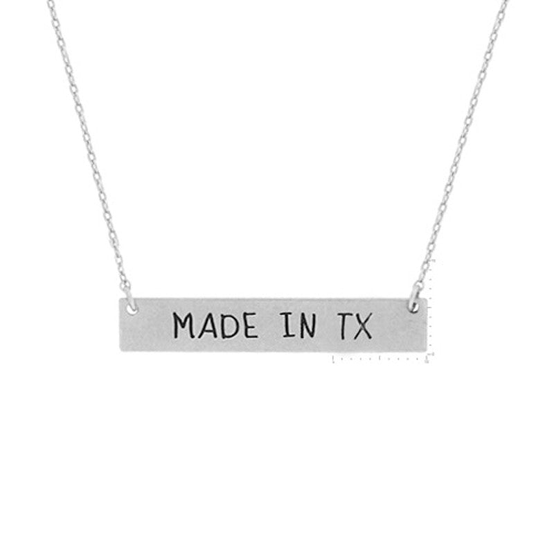 Made in TX Pendant Necklace