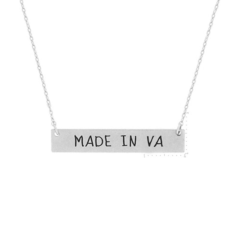 Made in VA Pendant Necklace