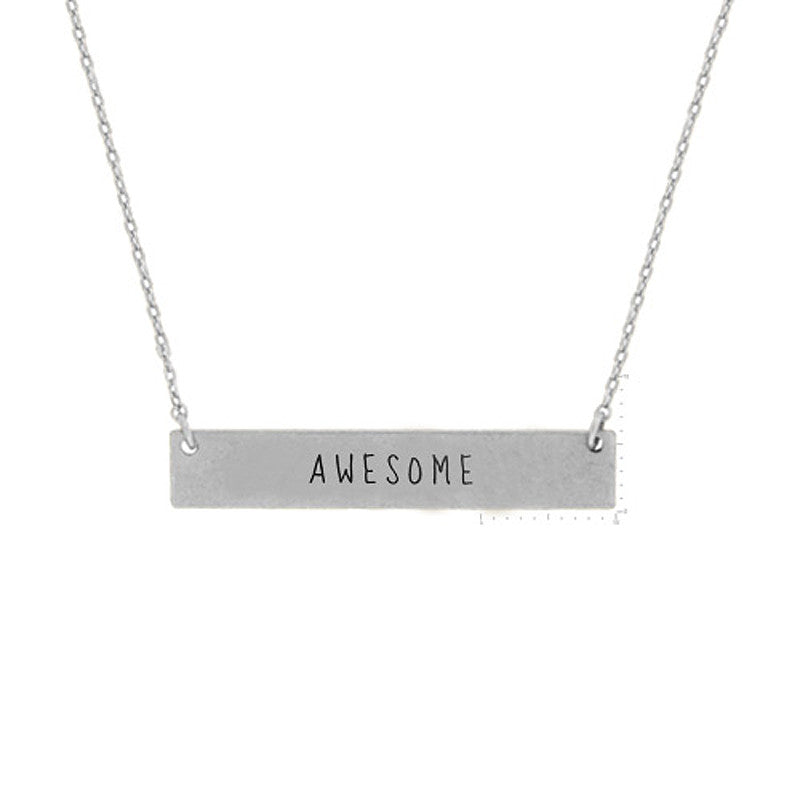 AWESOME Message Pendant Necklace