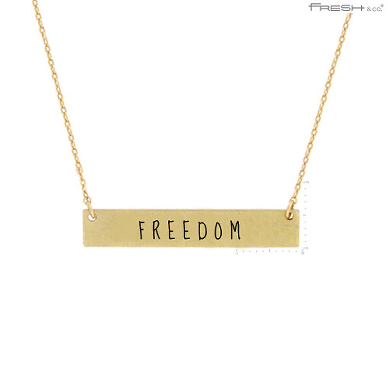 FREEDOM Message Pendant Necklace