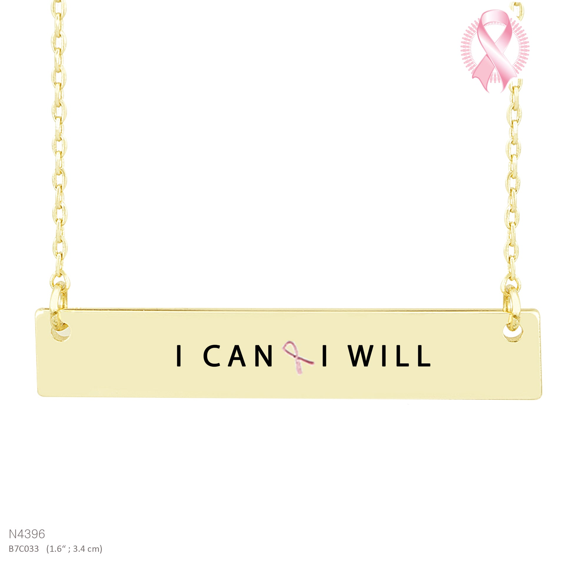 I CAN WILL-Message Pendant Necklace