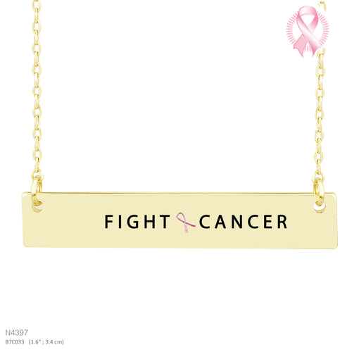 FIGHT CANCER-Message Pendant Necklace