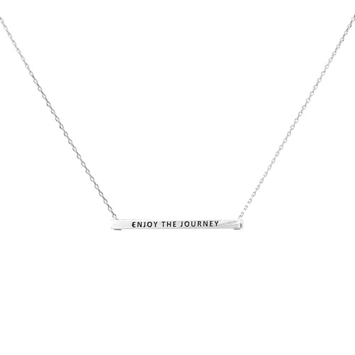 ENJOY THE JOURNEY Inspirational Message Pendant Short Necklace