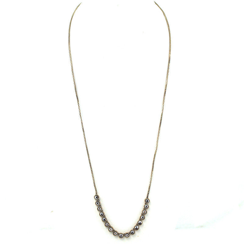 Mini Bubble Box Chain Necklace