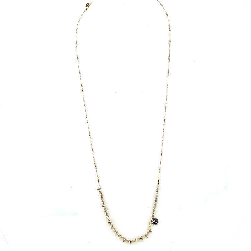 Ball Chain with Beads Bohemian Necklace