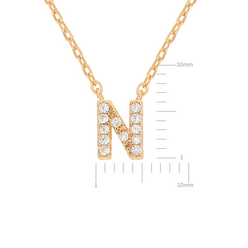 Cubic zirconia initial necklace n usjewelryhouse cubic zirconia initial necklace n aloadofball Choice Image