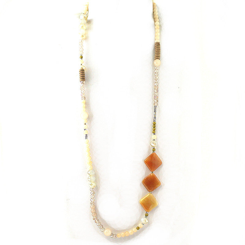 Semi Precious Multi Beads Bohemian Necklace