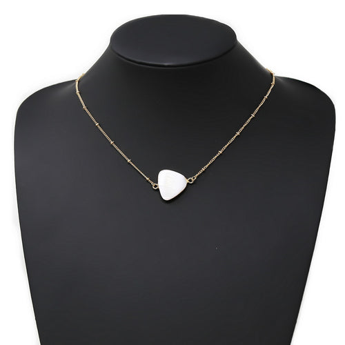 Shell Triangle Pendant Simple Chain Necklace