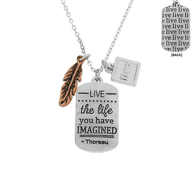 Thoreau Message Pendant Necklace
