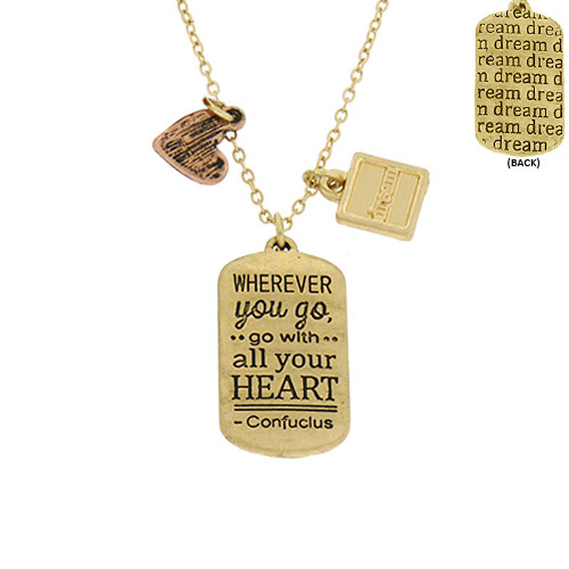Confuclus Message Pendant Necklace