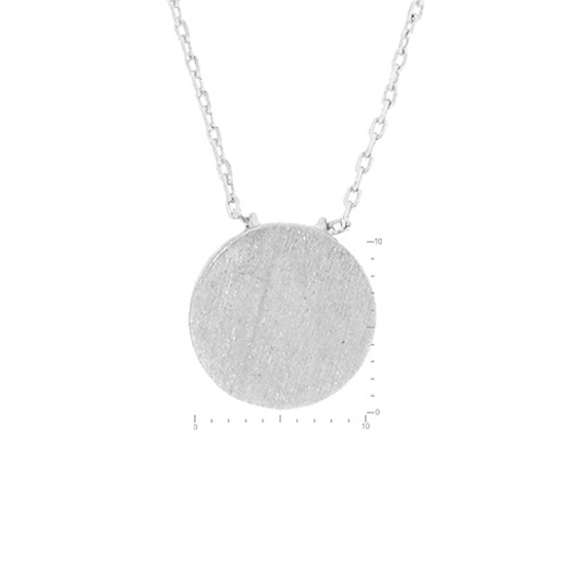 Circle Pendant Brass Necklace