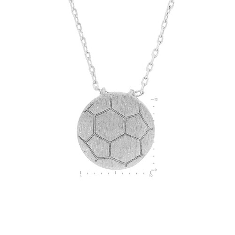Soccer Ball Pendant Brass Necklace