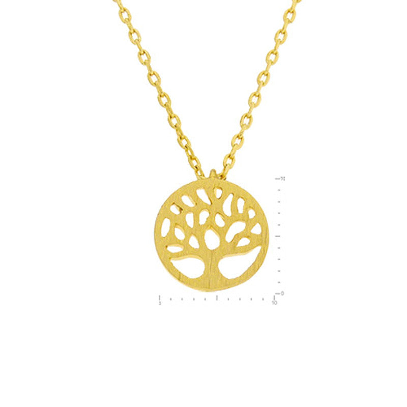 Tree of Life Pendant Brass Necklace