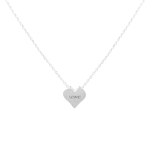 LOVE Heart Pendant Short Necklace