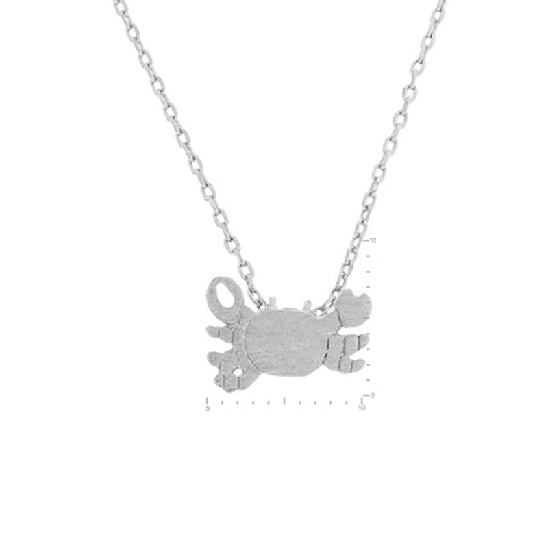 Crab Pendant Brass Necklace