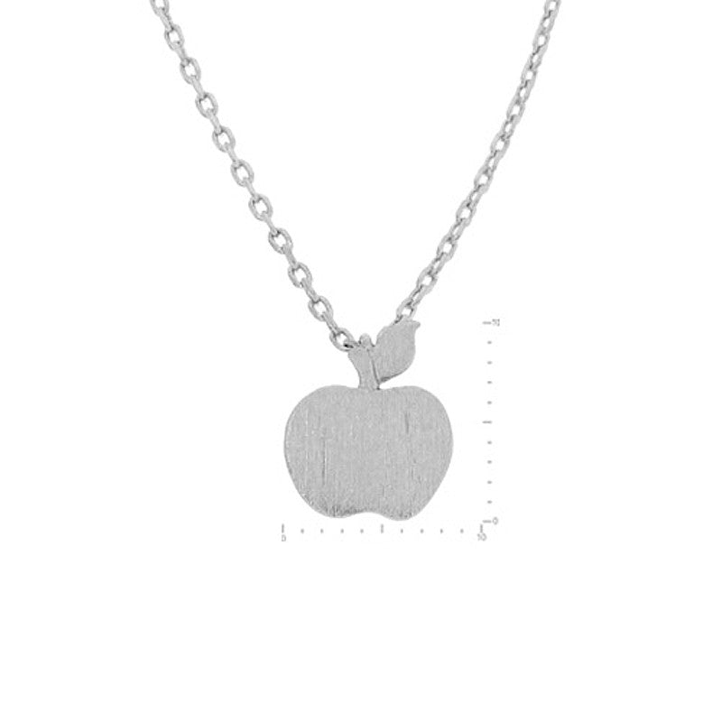 Apple Pendant Brass Necklace