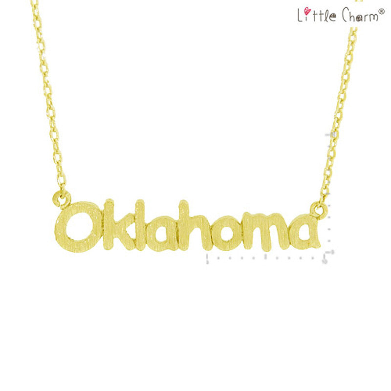 OKLAHOMA State Map Pendant Necklace