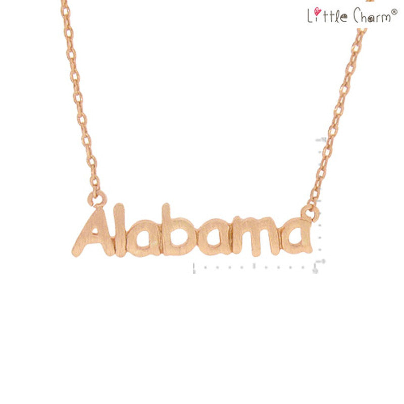 ALABAMA State Map Pendant Necklace