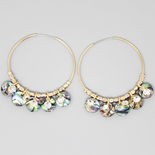 Acetate Mini Disc Hoop Earrings