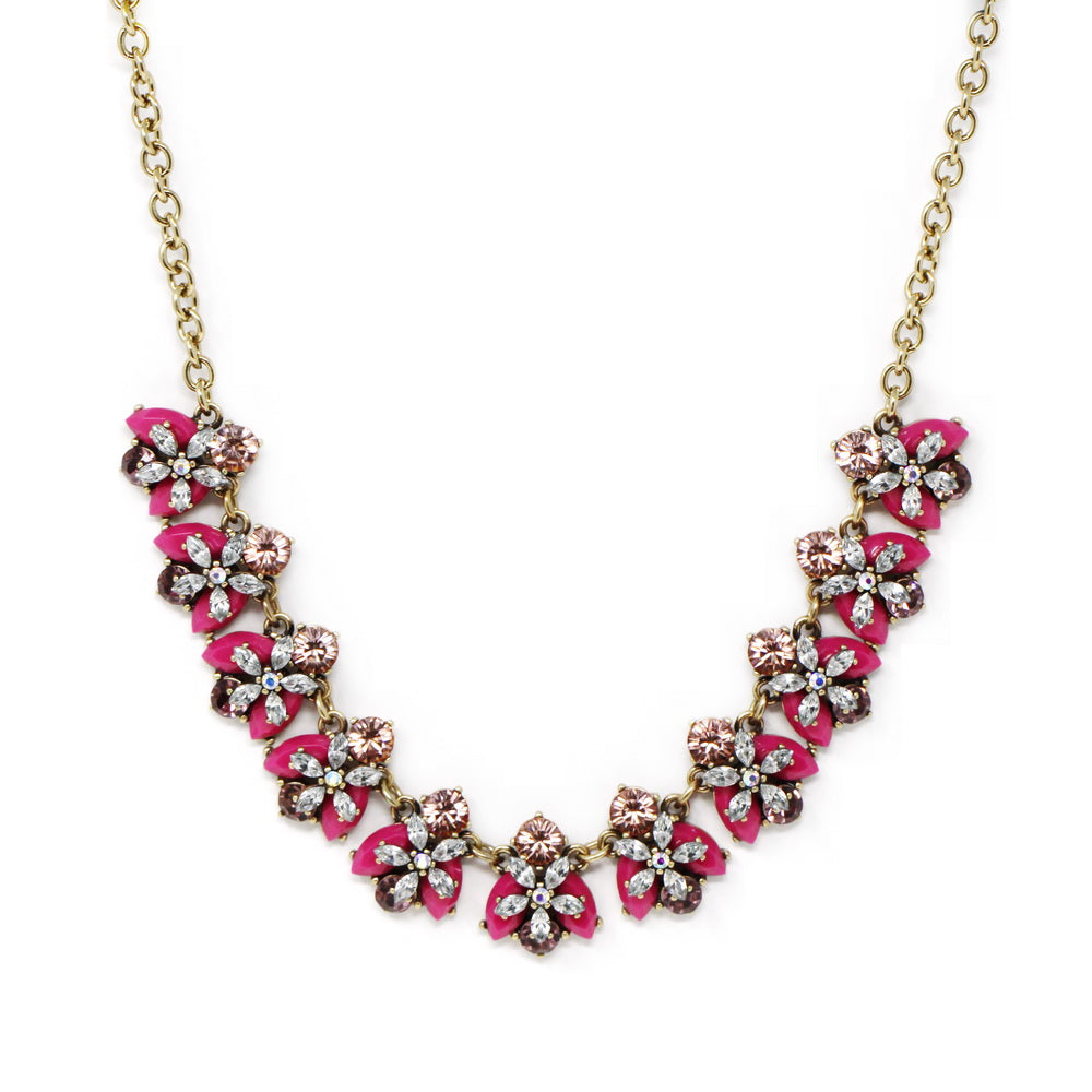 Vivid Summer Edition Acrylic Bee Statement Necklace