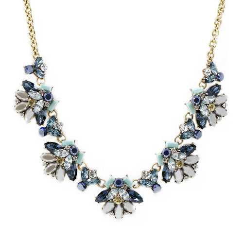 Delicate Acrylic Stone Cluster Statement Necklace
