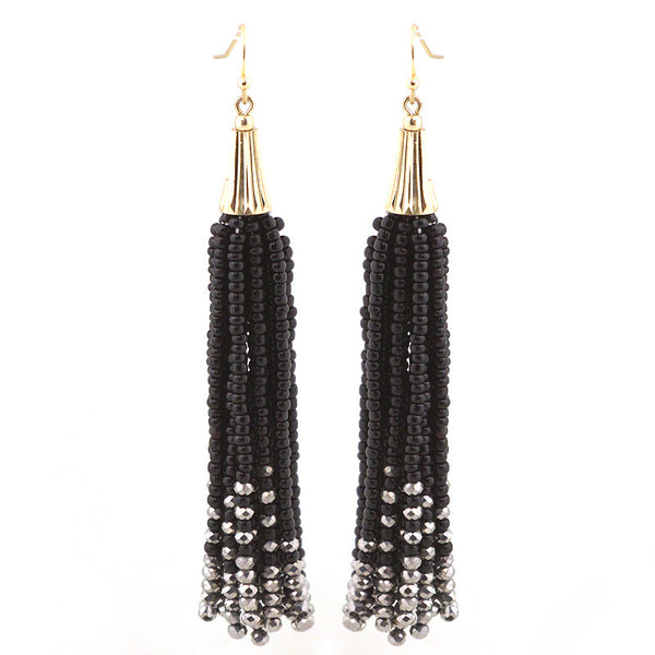 Lightweight Seed Beads Tassel Earrings