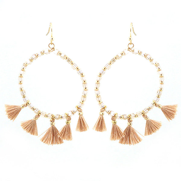 Lightweight Thread Tassel Earrings