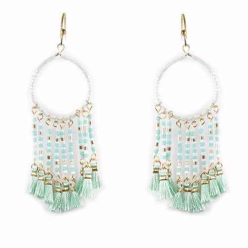 Lightweight Seed Beaded Dream Catcher Earrings