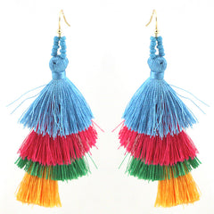 Cancan Thread Tassel Earrings